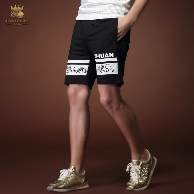 FanZhuan Free Shipping New Fashion Casual 2015 Male Men's Personality Printed Summer Palace Trousers Shorts Sportswear 15901