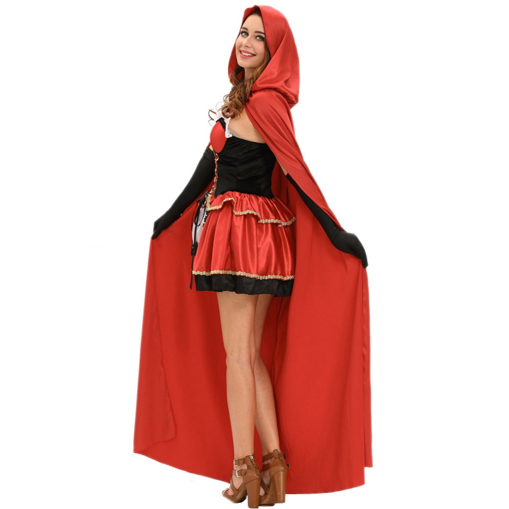 fgirl cosplay costume sexy halloween costumes for women three piece fairy tale little red costume fg41627 in sexy costumes from novelty special use on - Halloween Costumes Three Girls