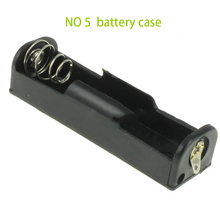 Hot Selling 1pcs/lot Plastic Case black battery storage box for AA Battery Holder Soldering Connecting Black free shipping