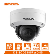 Hik DS-2CD2185FWD-IS IP Camera  8MP Network Dome Camera H 265 CCTV Dome Camera  IP67 with Audio surveillance webcam