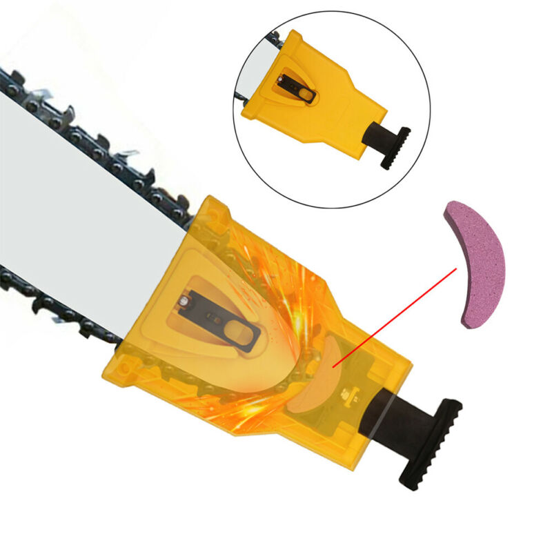2 Pcs Woodworking Chainsaw Teeth Chain Saw Sharpener Stone Grinding Tools Sets Home Garden  Chainsaw Parts Accessories