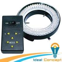 40-250 мм рабочее расстояние 144 LED микроскоп Камера дневной свет кольца