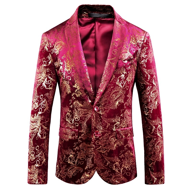 9f881c90253 2018 new arrive hight quality Cross-border for male hot style jacquard red  stamping blazer
