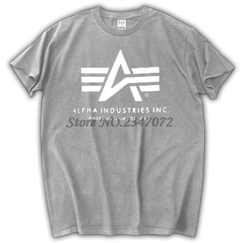 Free Shipping mens t shirts fashion 2017 Alpha Industries T-shirt Cotton short sleeves tee shirt summer style t shirts Футболка