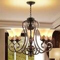 Роскошные классические железные резные подвесные светильники 5 чашек. Подвесной светильник в Королевском Стиле для спальни  балкона  прохо...