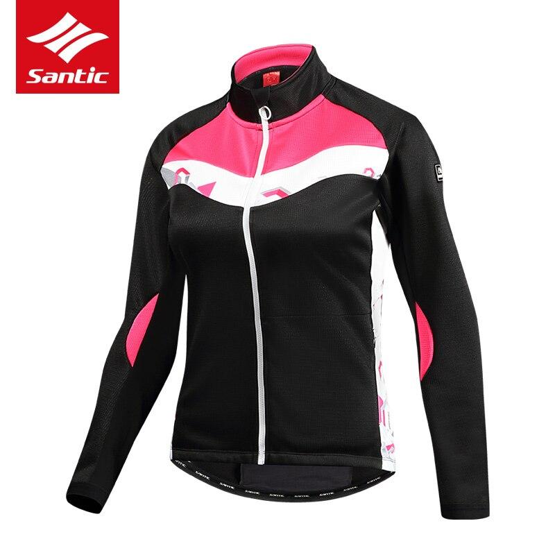 Sanitc Hiver Cyclisme Veste Femmes Rose Longue Coupe-Vent Thermique Chaud Vélo Manteaux VTT Route Vélo En Plein Air Veste Ropa Ciclismo