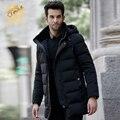 Зимняя мужская вниз пальто Черный мода мужская пуховик Роскошный утолщение SHENOWA Пуховики мужчины куртка