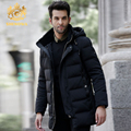 Winter men's down coat Black fashion men's down jacket Luxurious thickening SHENOWA Down Jackets men parka