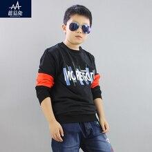 2017 Autumn Children Sweatshirt Fleece Boys Sweatshirt Loose Cotton Sweater Fashion Hoodies Sweatshirt Child Boy Age 9 10 11 12Y