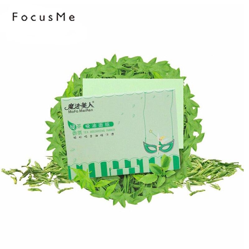 FM 100pcs Green Tea Facial Oil Control Paper Oil Blotting Paper Remove Facial Grease Absorbent Deep Clean Prevent Blackhead Acne цена 2017