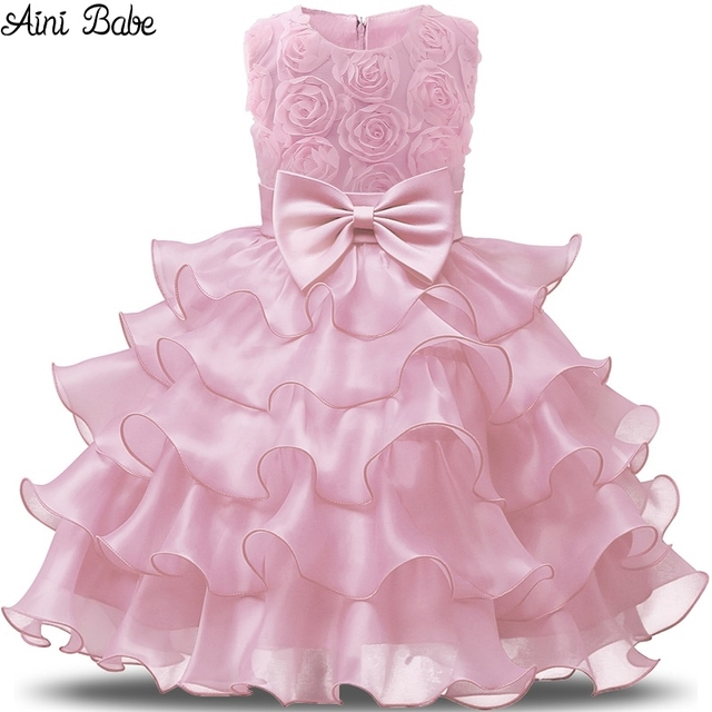 ff68b1d30e46 Aini Babe Flower Girl Dress Baby Girl Wedding Birthday Party Dresses ...