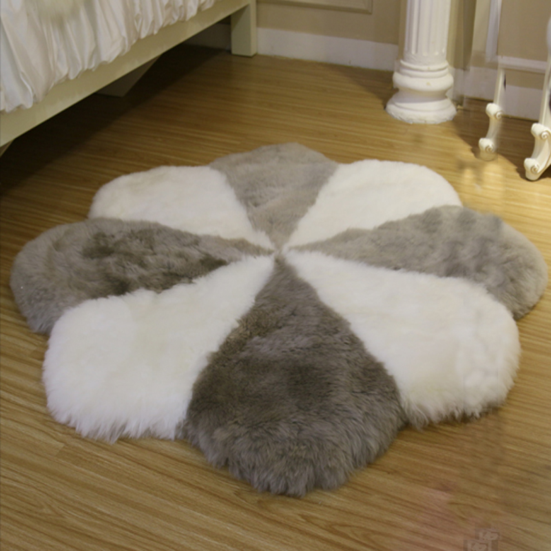 NºCinquefoil Sheepskin Blanket Quincunx ⑦ Bed Bed Real
