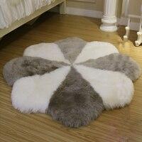 Cinquefoil Sheepskin Blanket Quincunx Bed Real Merino Sheep skin Fur Rug Natural Bedroom Decorative Blankets Floor Crapet Mat