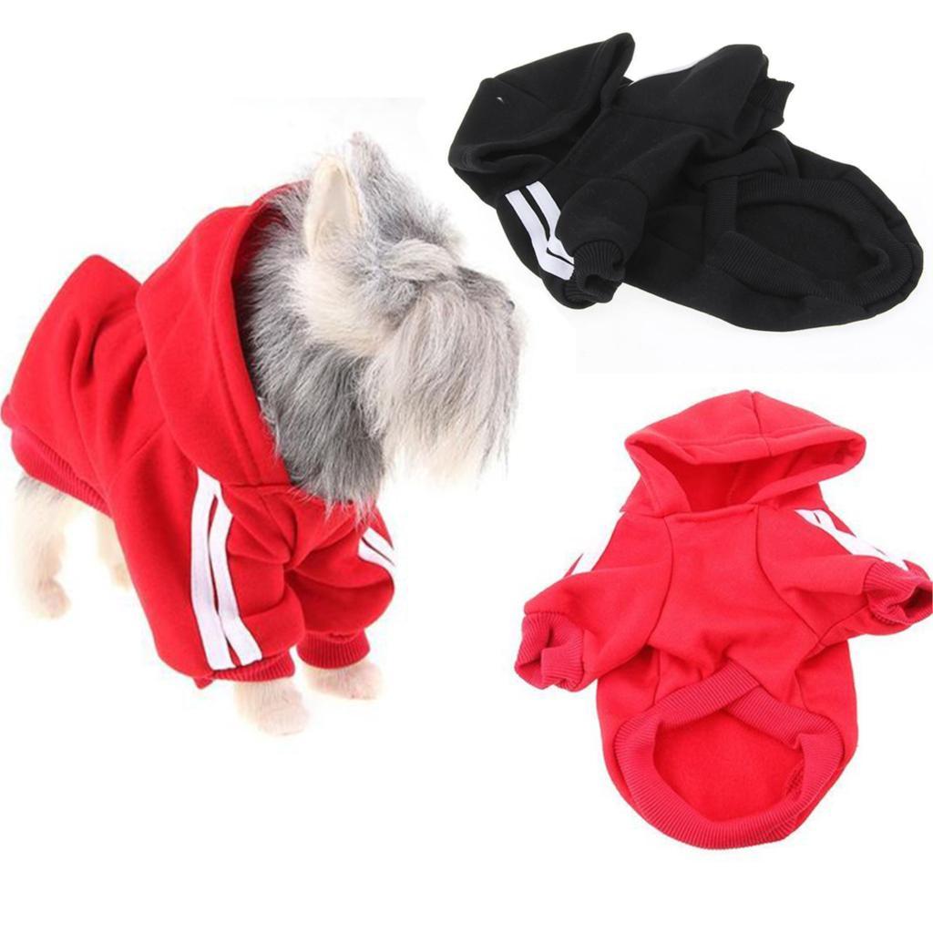 <font><b>Red</b></font> Warm Pet <font><b>Dog</b></font> Puppy Hoodie Cotton Sweater <font><b>Sweatshirt</b></font> Clothes Apparel <font><b>Hooded</b></font> Soft Sleeved