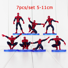 цена на Kid PVC Action Figure Marvel Avenger Spider-man Homecoming Figure Set Superhero Amazing Spiderman Model Doll Home Collection Toy