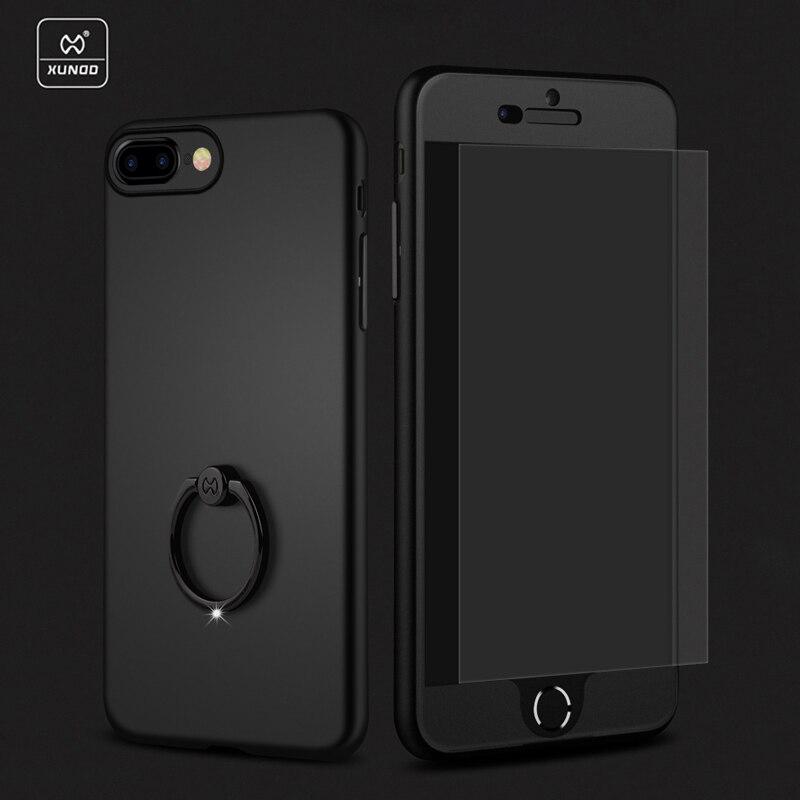 bilder für Neueste 3 in 1 marke case für iPhone 7/7 plus Luxus fall xundd volle schutzhülle für 6 6 s plus Rückseitige Abdeckung mit Ring halter