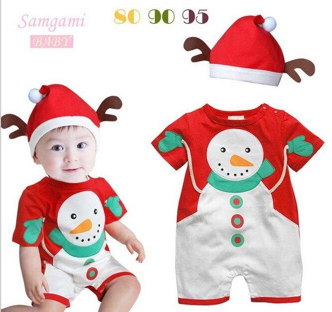 ᓂБесплатная доставка Детские Рождественские Ползунки детский ... 54433fba33b68