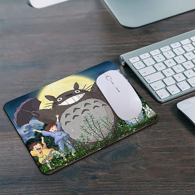ゲーミングマウスパッドワイヤレスマウスコンボ 260*210 ミリメートルの漫画かわいいマウスパッド超薄型 2.4 ghz の usb レシーバーマウス仕事のためゲームギフト