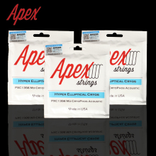 APEX Hyper-Elliptical Cryos PXC Series Cryogenic Phosphorus Bronze Acoustic Guitar Strings, Made in USA
