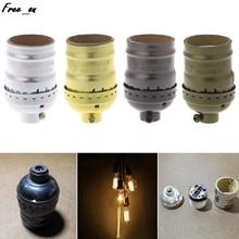 E26/E27 Aluminum Retro Pendent Vintage Light Bulb Lamp Holder Socket Without Switch