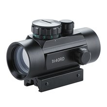 Taktinis 1x40 mm Reflex Red / Green Dot Sight Riflescope su 20 mm laisvosios kreiptuvės be akumuliatoriaus