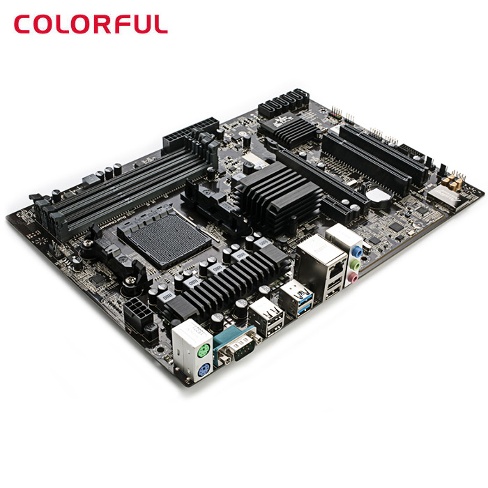 все цены на Original Colorful C.A970X X5 AMD 970 RX970+SB950 ATX Motherboard AM3+ DDR3 RJ45 SATA3.0 USB3.0 RAID for DIY Computer Project онлайн