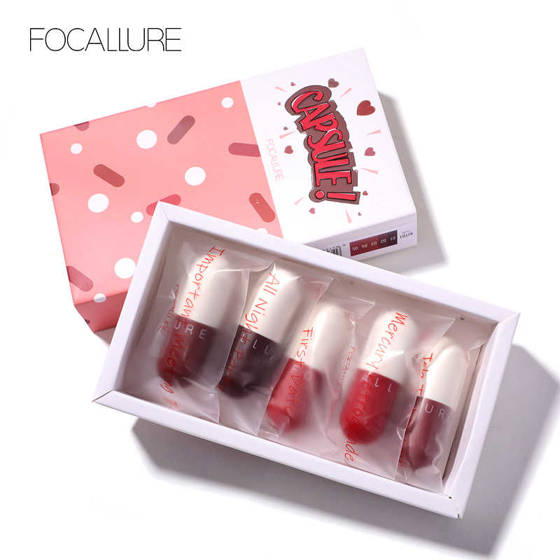 FOCALLURE New matte lipstick waterproof red brown velvet long lasting lipstick waterproof set women lips maquiagem