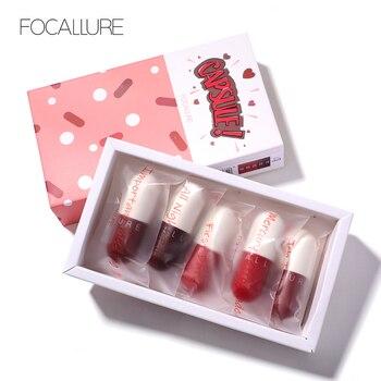 FOCALLURE Mini matte lipstick waterproof red brown velvet long lasting set women lips maquiagem