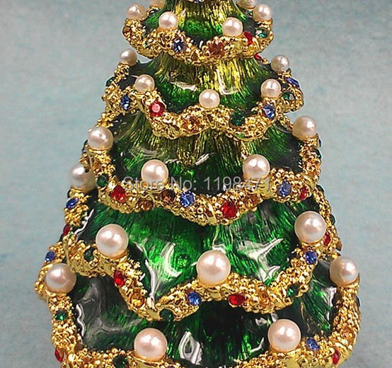 pearl christmas tree christmas gifts wedding jewelry box russian