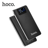 HOCO Large Capacity 10000mAh Practical Ultra Thin Power Bank Mobile Powerbank Universal Charger With LED Flashlight