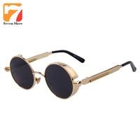 5be33ff0e Matel Frame Mens Sunglasses Women Brand Designer Vintage Sun Glasses  Steampunk Goggles Shades Sunglasses Men Zonnebril. Matel Quadro Dos Homens Óculos  De ...