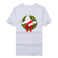 2017 Ghostbusters Wreath Merry Christmas Xmas Ugly Sweater T Shirt Funny T Shirt 1023 7