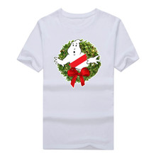 2017 Ghostbusters Wreath Merry Christmas Xmas Ugly Sweater T-shirt  funny t shirt 1023-7