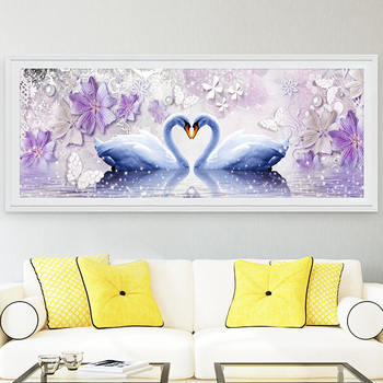 DIY Diamond 5D Eternal Love Diamond Painting Swan Round Diamond Mosaic Home Decor Diamonds Embroidery wedding 1