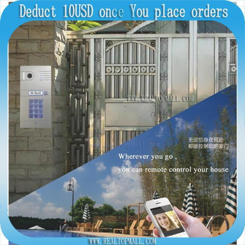 WiFi Doorbell,Door bell Wireless IP intercom interfone HD camera,smart phone video unlock alarm by android Mobile ISO Ipad digital video intercom door phone doorbell wireless camera doorbell ip intercom video door bell phone eye hole door viewer