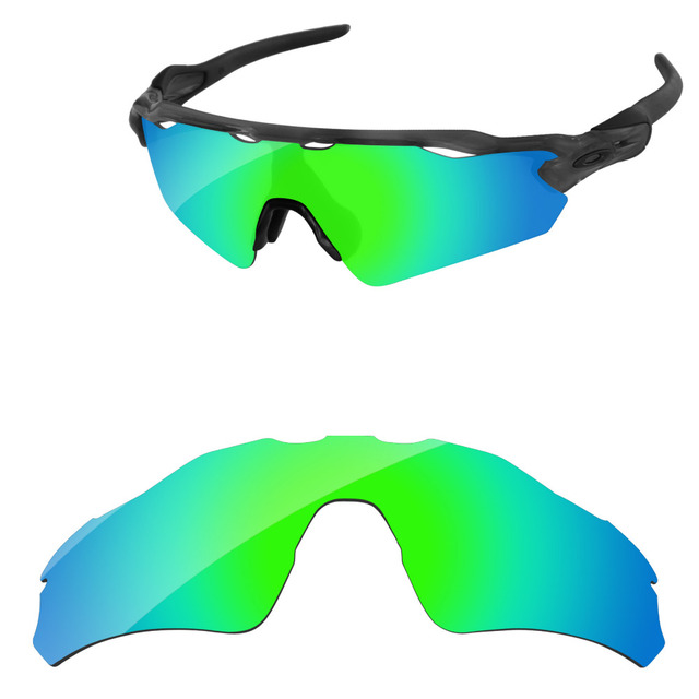 4dd7e5351e Emerald Green Mirror Polarized Replacement Lenses For Radar EV Path  Sunglasses Frame 100% UVA