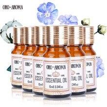 Znane marki oroaroma piżmo mięta pieprzowa werbena grejpfrut ambra żeń-szeń olejki eteryczne opakowanie do aromaterapii Spa kąpiel 10ml * 6
