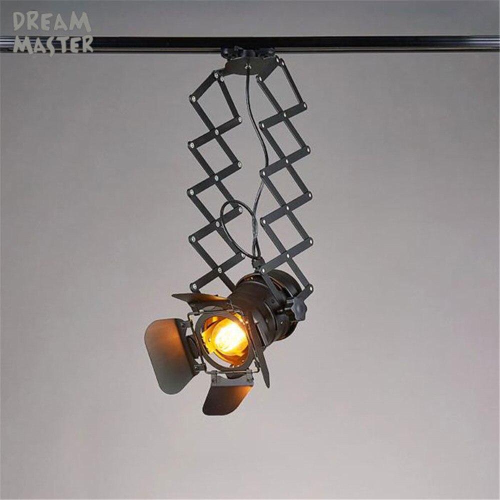 Loft Art Industrial zig zag Track lighting Showroom Clothing Store Bar Restaurant adjusted Spotlights zig-zag barndoor rail lamp ...