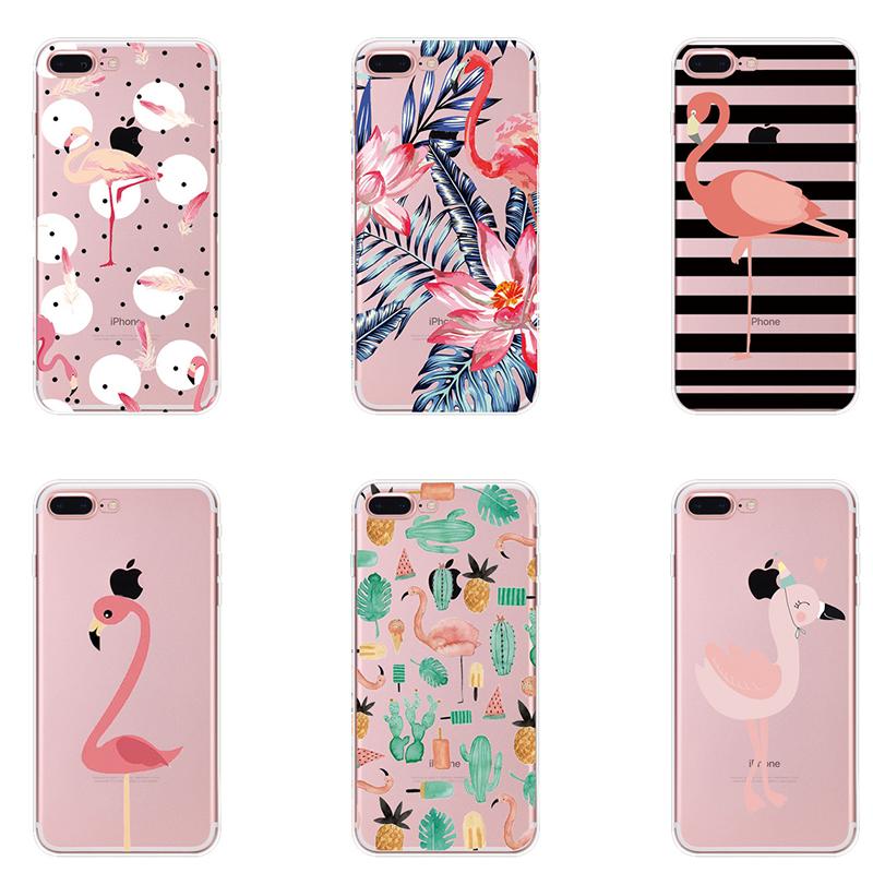 Impartial For Iphone X 5 5s Se 6 6splus 7 7plus 8 Plus Novelty Fundas Phone Case Cover Fruit Perfume Bottle Flamingo Silicon Transparent Phone Bags & Cases Half-wrapped Case