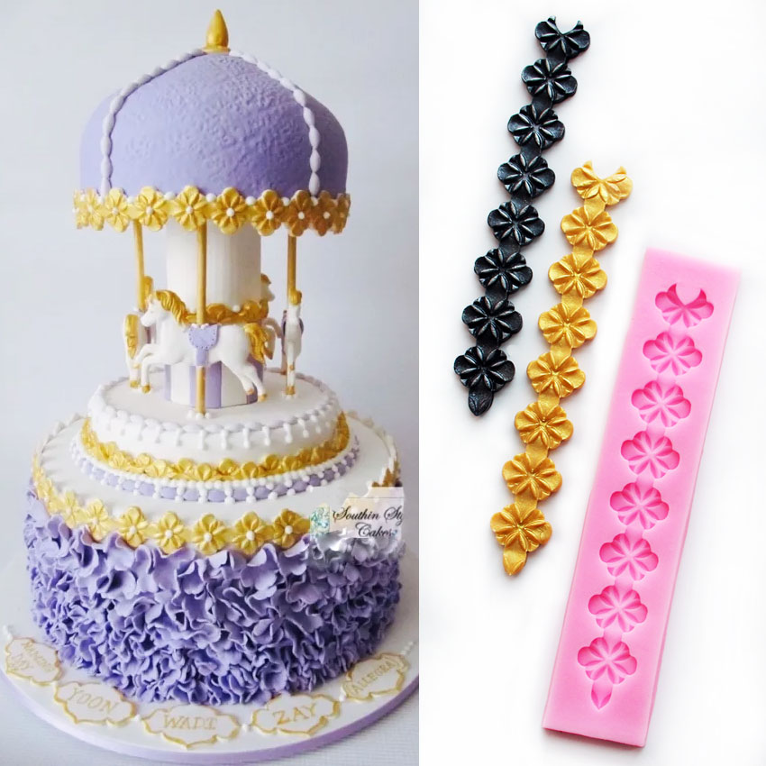 simple cake decorating ideas with fondant.htm luyou new arrival long lace flower shaped 3d silicone cake fondant  long lace flower shaped 3d silicone