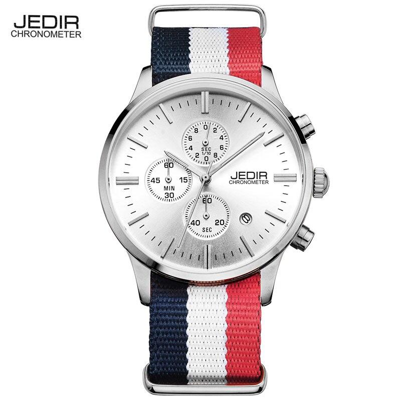 Prix pour JEDIR Hommes Chronographe Montre Hommes Montre Top Marque De Luxe Horloge Date de Quartz Casual Sport Montre Hommes montre-Bracelet relogio masculino