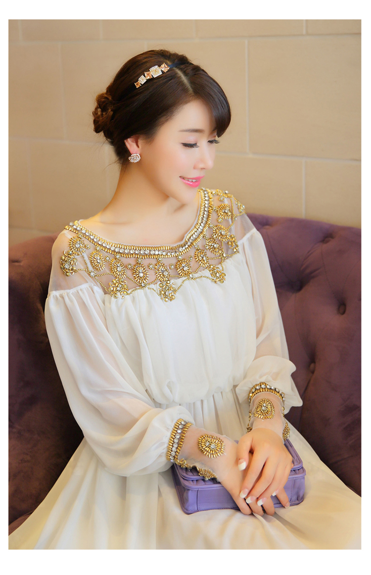 7c04dfbe8c3ad 2018 women new fashion elegant vestidos formal korean runway white party  long maxi spring summer dress long sleeve autumn