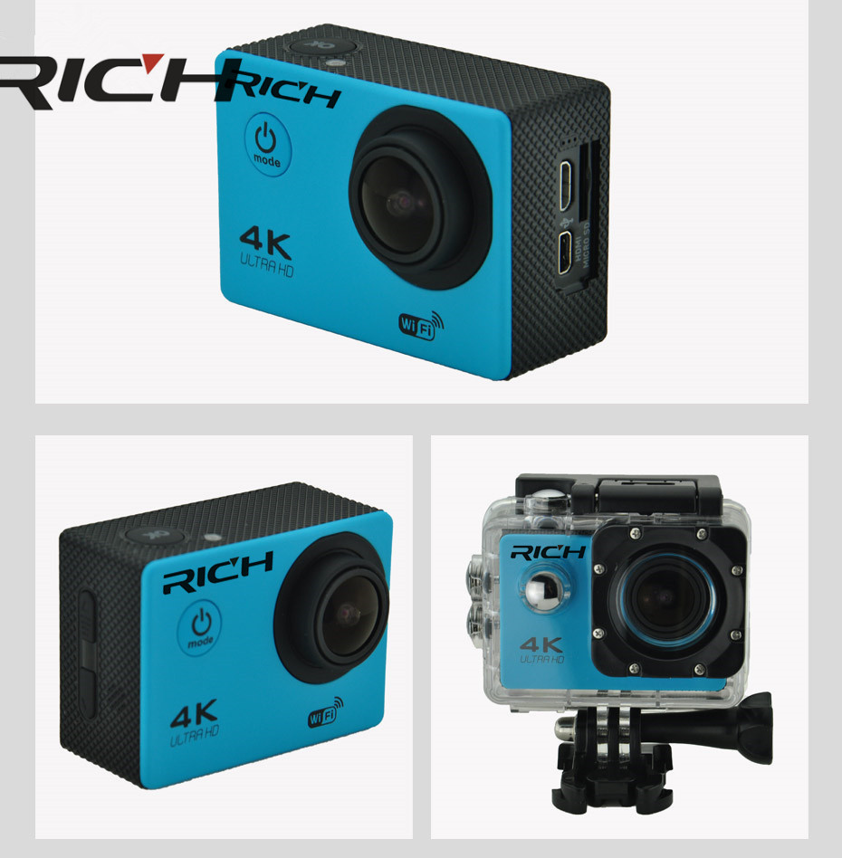 Caméra d'action Sport F60/F60R 4 K 30FPS 170D Len 1080 P 60FPS caméra WIFI 30 M Go Waterproo Pro casque de vélo Cam