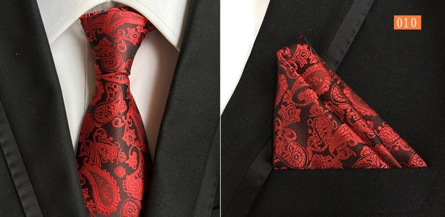 8cm tie set floral men's necktie for men Bandanna Paisley handkerchief neck tie set business neckwear ascot shirt accessories