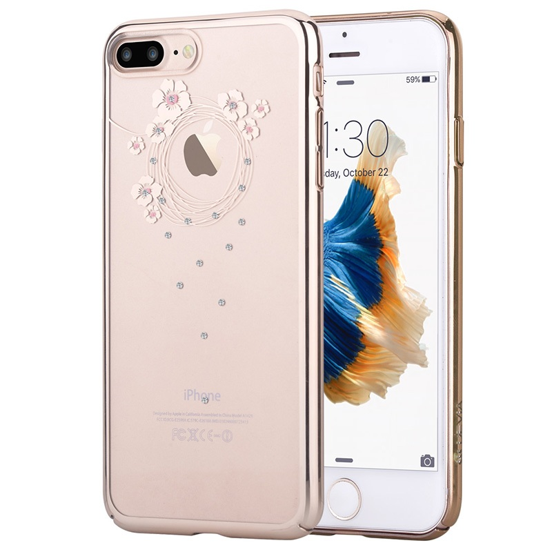 For iPhone 7 Hard Cases DEVIA for iPhone 7 Authorized Crystal Garland Plating Plastic Case 4