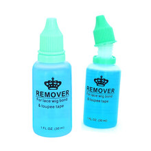 30ml/Bottle Hair Glue Remover For Unloading Lace Wig Toupee Skin Weft Tape Hair Extension Makeup Remover Tool(China)