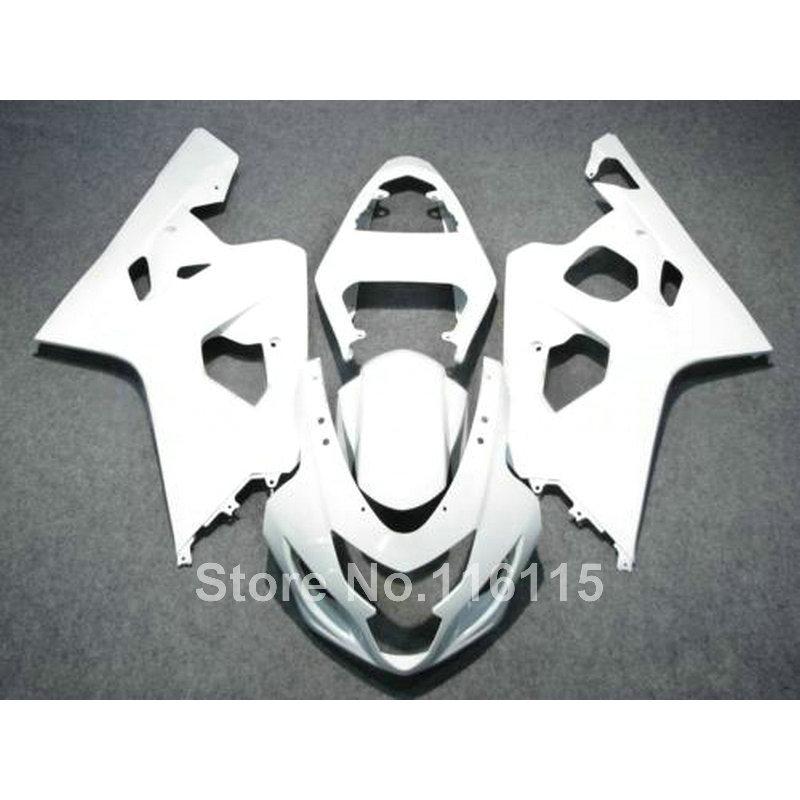 Hot sale fairing kit for SUZUKI GSXR 600 750 K4 2004 2005 all white bodykits GSXR600 GSXR750 04 05 fairings set LF80 игрушка 31 век lf 2005