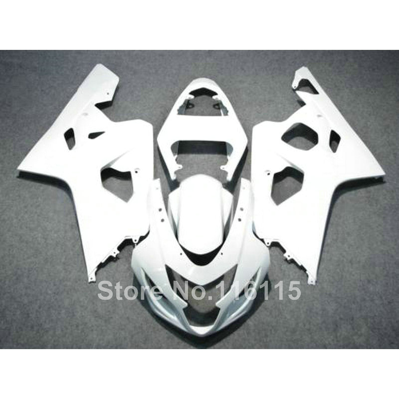 Hot sale fairing kit for SUZUKI GSXR 600 750 K4 2004 2005 all white bodykits GSXR600 GSXR750 04 05 fairings set LF80 пена монтажная mastertex all season 750 pro всесезонная