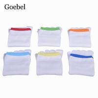 Goebel Men Short Socks Breathable Sweat Absorb Man Cotton Five Toe Socks Solid Color Deodorant Male