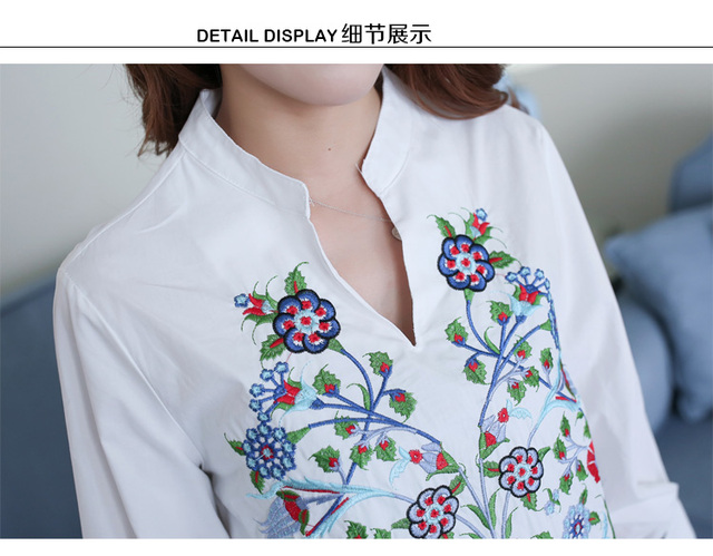 Maternity Blouse Shirt Clothes Pregnancy Wear Tops Tees Clothing White Floral Embroidery Clothes For Pregnant Women 5